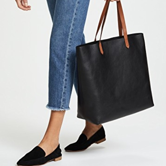 d42632b81f7 Madewell Handbags - Madewell leather Transport Tote black brown handle